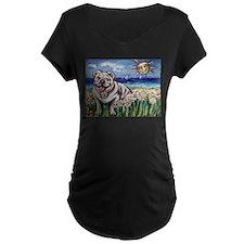 Happy Daisy Bulldog under the T-Shirt