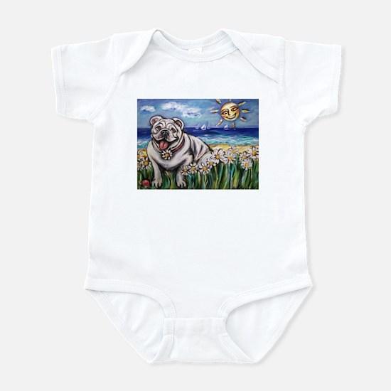 Happy Daisy Bulldog under the Infant Bodysuit