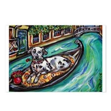 Dalmatian carries rose in Ven Postcards (Package o
