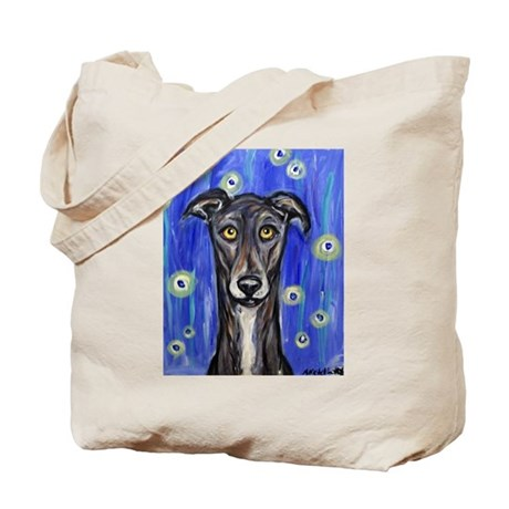 Portrait of a greyhound Tote Bag