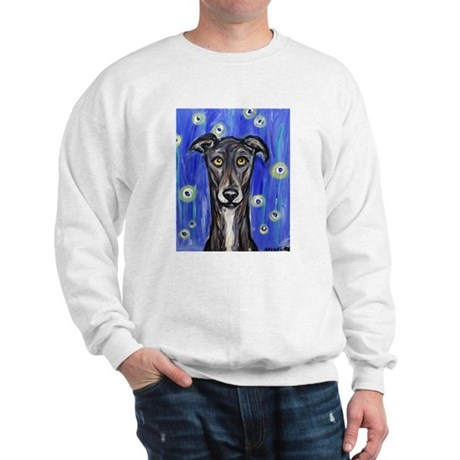 Portrait of a greyhound Sweatshirt
