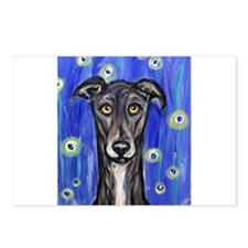 Portrait of a greyhound Postcards (Package of 8)