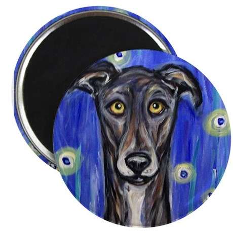 "Portrait of a greyhound 2.25"" Magnet (100 pack)"