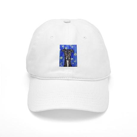 Portrait of a greyhound Cap