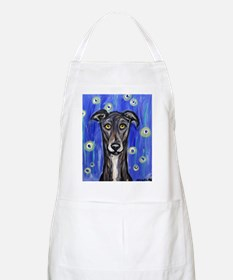 Portrait of a greyhound BBQ Apron