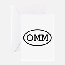 OMM Oval Greeting Card