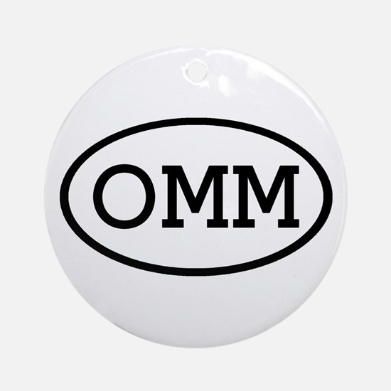 OMM Oval Ornament (Round)