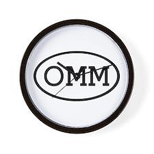 OMM Oval Wall Clock