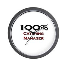 100 Percent Catering Manager Wall Clock
