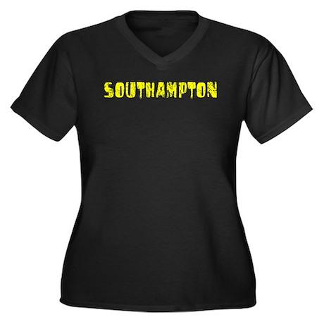 Southampton Faded (Gold) Women's Plus Size V-Neck