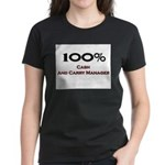 100 Percent Cash And Carry Manager Women's Dark T-