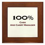 100 Percent Cash And Carry Manager Framed Tile