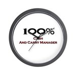 100 Percent Cash And Carry Manager Wall Clock