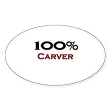 100 Percent Carver Oval Decal