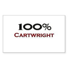 100 Percent Cartwright Rectangle Decal