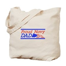 Proud Navy dad Tote Bag