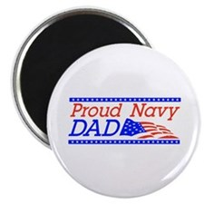 "Proud Navy dad 2.25"" Magnet (100 pack)"