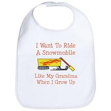 A Snowmobile Like Grandma Bib