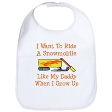 A Snowmobile Like Daddy Bib
