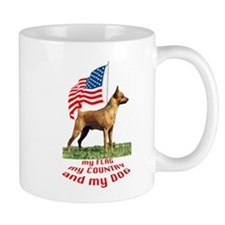 minpin with flag Mug