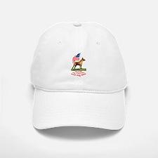 minpin with flag Baseball Baseball Cap
