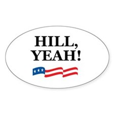 HILL, YEAH! Oval Decal