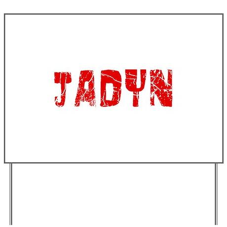 Jadyn Faded (Red) Yard Sign