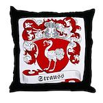 Strauss Family Crest Throw Pillow