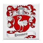 Strauss Family Crest Tile Coaster