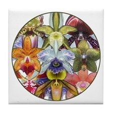 Orchid Collage Tile Coaster