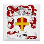 Streng Family Crest Tile Coaster