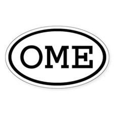 OME Oval Oval Decal