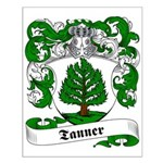 Tanner Family Crest Small Poster