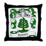 Tanner Family Crest Throw Pillow