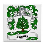 Tanner Family Crest Tile Coaster