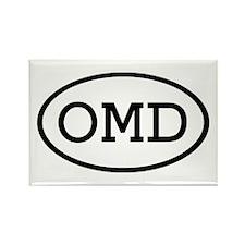 OMD Oval Rectangle Magnet (100 pack)