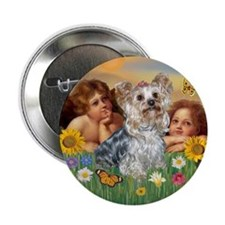 Angels with Yorkie Button