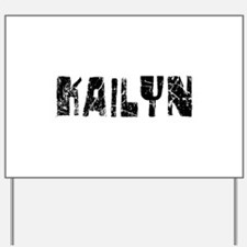 Kailyn Faded (Black) Yard Sign