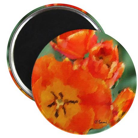 Orange Tulip Magnet