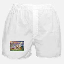 Cloud Angel & Yorkie Boxer Shorts