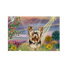 Cloud Angel & Yorkie Rectangle Magnet