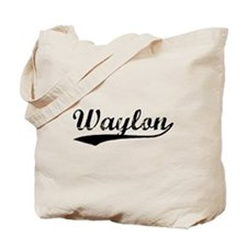 Vintage Waylon (Black) Tote Bag