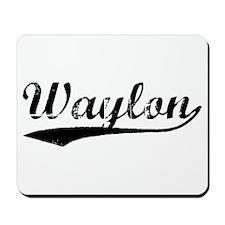 Vintage Waylon (Black) Mousepad