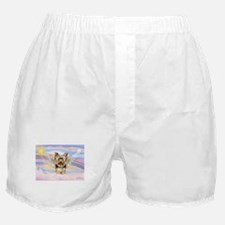 Yorkie (#17) in Clouds Boxer Shorts