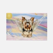 Yorkie (#17) in Clouds Rectangle Magnet