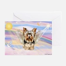Yorkie (#17) in Clouds Greeting Cards (Pk of 20)