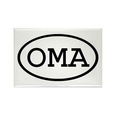 OMA Oval Rectangle Magnet (100 pack)