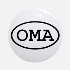 OMA Oval Ornament (Round)