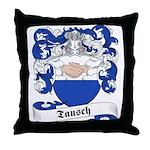 Tausch Family Crest Throw Pillow