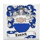 Tausch Family Crest Tile Coaster